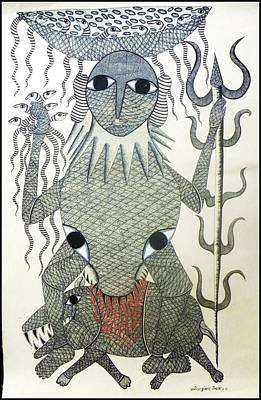 Gond Art Painting - Mkt 52 by Manoj Tekam