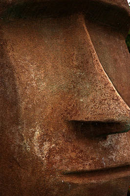 Moai Face Art Print by LeeAnn McLaneGoetz McLaneGoetzStudioLLCcom