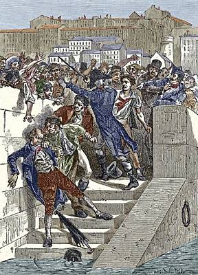 New Martyr Photograph - Mob Attacking Jacquard In Lyon, France by Sheila Terry