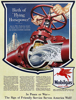 Photograph - Mobil Advertisement, 1943 by Granger