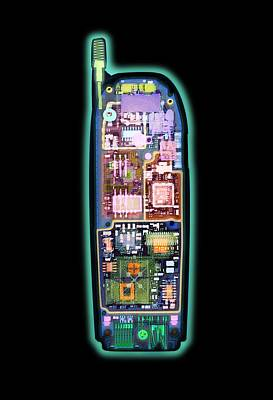 Mobile Phone, X-ray Art Print by D. Roberts
