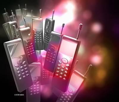 Mobile Phones Art Print