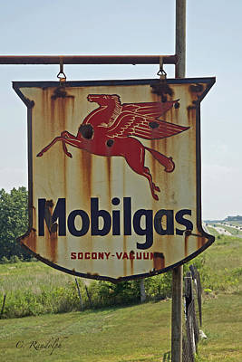 Photograph - Mobilgas by Cheri Randolph
