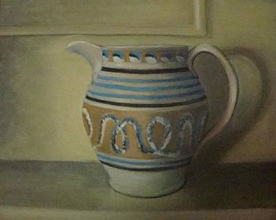 Painting - Mocha Pitcher On Mantle by Mark Haley