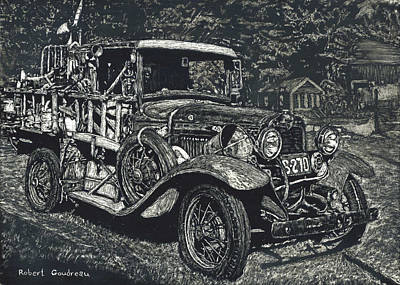 Model A Ford Art Print by Robert Goudreau