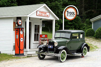 Tydol Gas Photograph - Model A Ford by Ted Kinsman