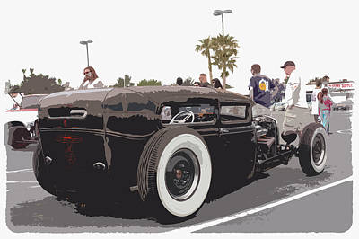 Hot Rod Photograph - Model A Sedan by Steve McKinzie