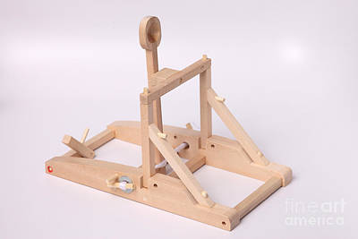 Energy Conversion Photograph - Model Catapult by Ted Kinsman
