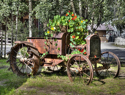 Photograph - Model T Tractor Planter by George Hawkins