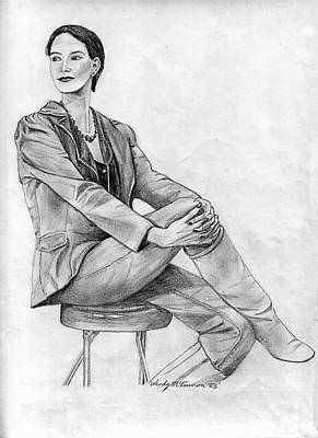 Drawing - Model by Wendy McKennon