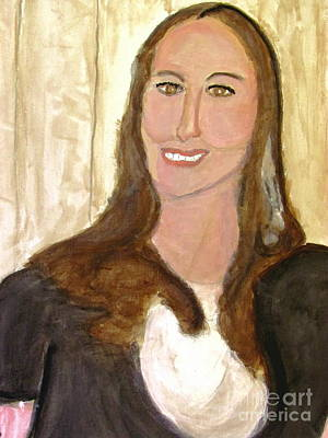 Painting - Model With A Smile by Stanley Morganstein