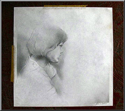 Drawing - Model2 1978 by Glenn Bautista