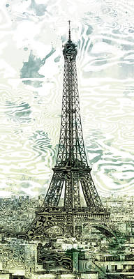 Paris Digital Art - Modern-art Eiffel Tower 12 by Melanie Viola