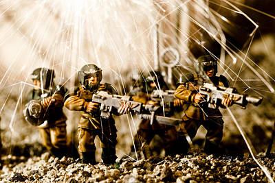 Modern Battle Field Art Print by Marc Garrido