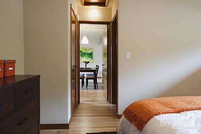 Modern Bedroom Interior Art Print by Inti St. Clair
