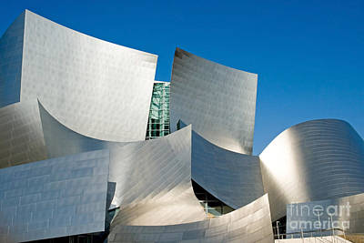 Curvilinear Photograph - Modern Disney Concert Hall In Los Angeles California by ELITE IMAGE photography By Chad McDermott