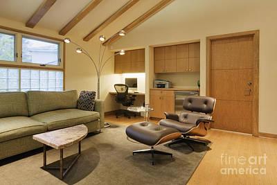 Modern Living Room Art Print by Jeremy Woodhouse