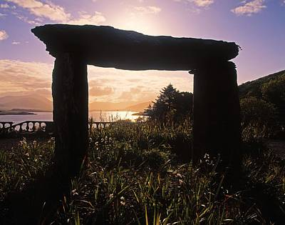 Megalith Photograph - Modern Sculpture Of A Dolmen At by The Irish Image Collection