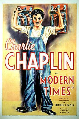 Modern Times, Charlie Chaplin, 1936 Art Print by Everett