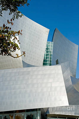 Curvilinear Photograph - Modern Walt Disney Concert Hall In Los Angeles California by ELITE IMAGE photography By Chad McDermott