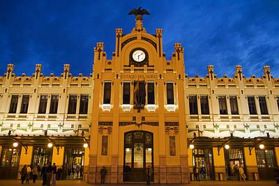 Modernista Facade Of Estacion Del Norte (north Train Station), Valencia, Spain, Europe Art Print
