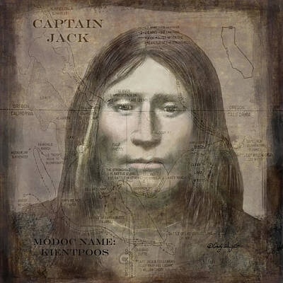 Digital Art - Modoc Indian Captain Jack by Cindy Wright