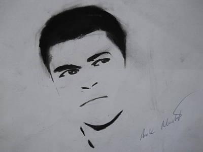 Clay Drawing - Mohammed Ali by Ahmed Mustafa