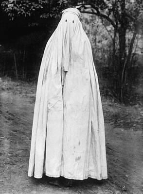 Mohammedan Woman With Head To Toe Burka Art Print by Everett