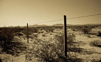 Barbed Wire Fences Photograph - The Mojave Desert   by Gilbert Artiaga