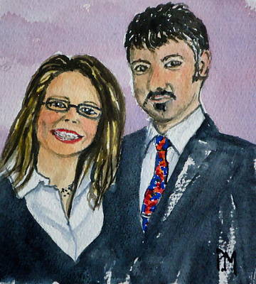 Husband And Wife Painting - Mojo And Pete by Pete Maier
