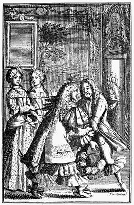 Moliere: Pr�cieuses, 1682 Art Print by Granger
