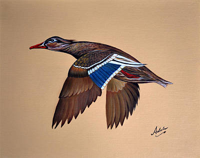 Mallard Ducks Painting - Molly by Adele Moscaritolo