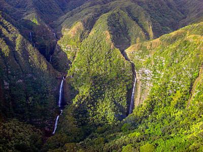 Aloha Photograph - Molokai Hawaii Waterfalls by Scott McGuire
