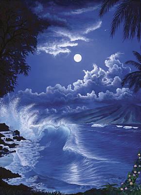 Molokai Moonlight Art Print