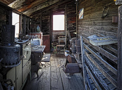 Molson Ghost Town Storage Shed Art Print by Daniel Hagerman