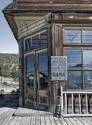 Miners Ghost Photograph - Molson Washington Ghost Town Bank by Daniel Hagerman