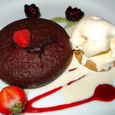Photograph - Molten Chocolate Lava Cake by Karon Melillo DeVega