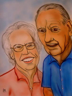 Caricature Drawing - Mom And Dad by Pete Maier