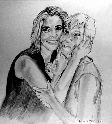 Drawing - Mom And Daughter by Amanda Dinan