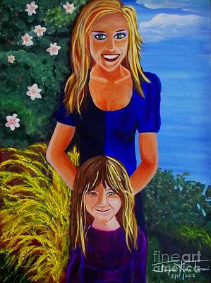 Painting - Mom And Daughter by Jayne Kerr