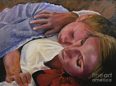 Commision Painting - Mom And Son by Catalina Rankin