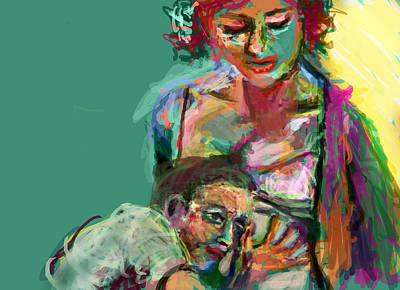 Kicking Digital Art - Mom by James Thomas