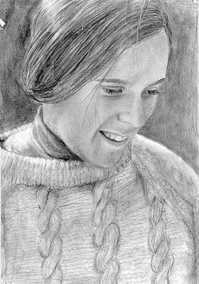 Drawing - Mom by Katherine Huck Fernie Howard