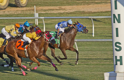 Horse Racing Photograph - Moments by Betsy Knapp
