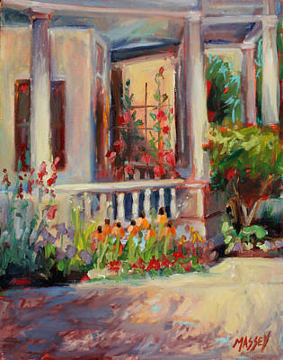 Estes Park Painting - Mommas Porch     Plein Air by Marie Massey