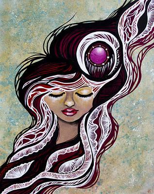 Acrylic Painting - Moms Dreams by Julia  Kropinova