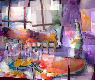 Mom's Table Art Print by J Christian Sajous