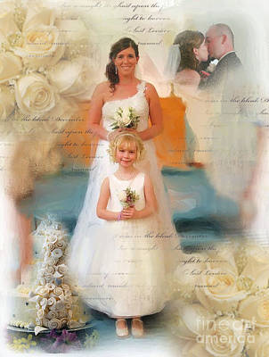 Digital Art - Moms Wedding And Me by Ruby Cross