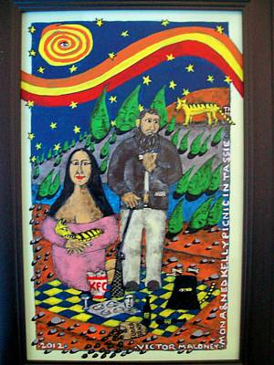 Mona And Ned Kelly Original by Victor Maloney