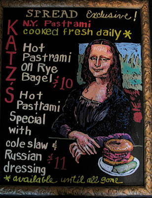 Pastel - Mona Lisa W Pastrami by Doris  Lane Grey